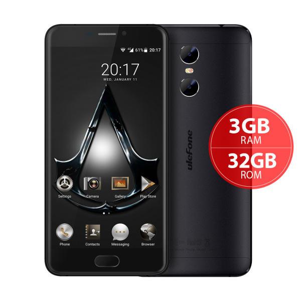 banggood Ulefone Gemini MTK6737T 1.5GHz 4コア BLACK(ブラック)