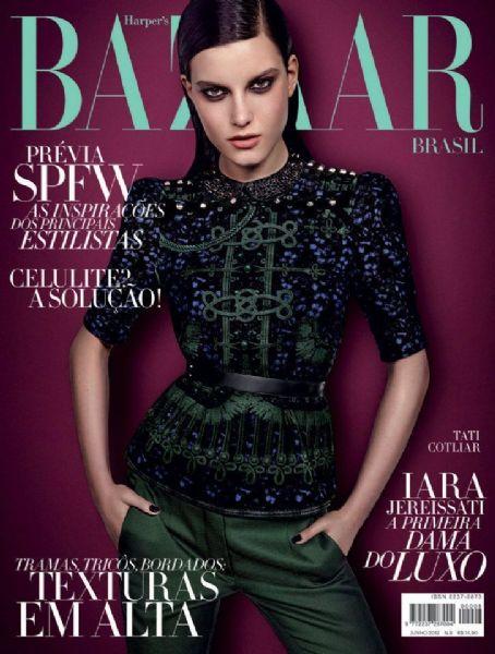 Tatiana Cotliar - Harper's Bazaar Magazine Cover [Brazil] (June 2012)