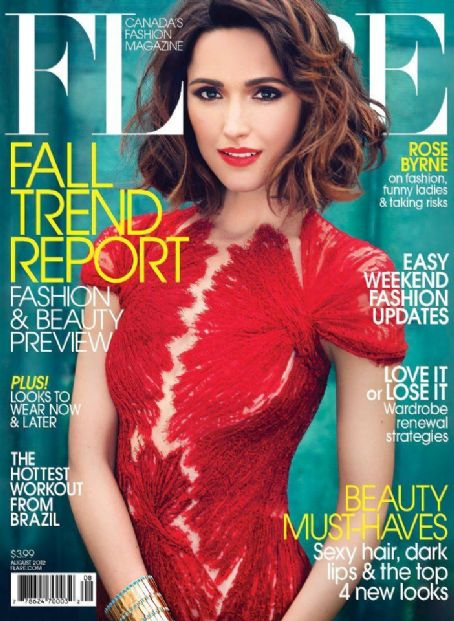 Rose Byrne - Flare Magazine Cover [Canada] (August 2012)