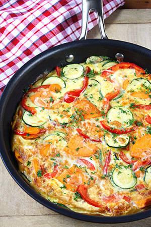 Zucchini and Red Pepper Frittata
