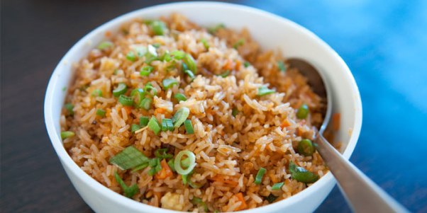 cooking your own food, like fried rice saves lots of money