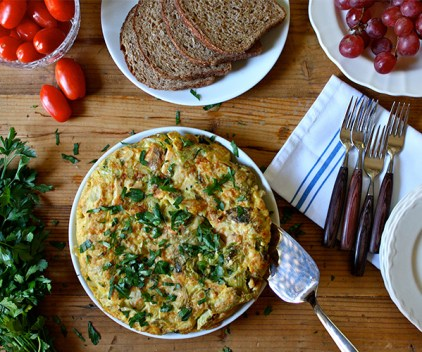 Turkey and Brussels Sprouts Frittata