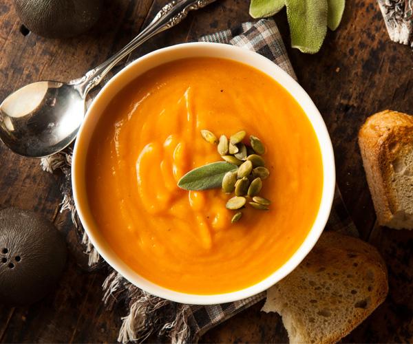 Pumpkin and Red Lentil Soup