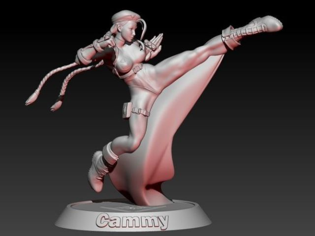 Street Fighter Cammy 3d Model Stl 1