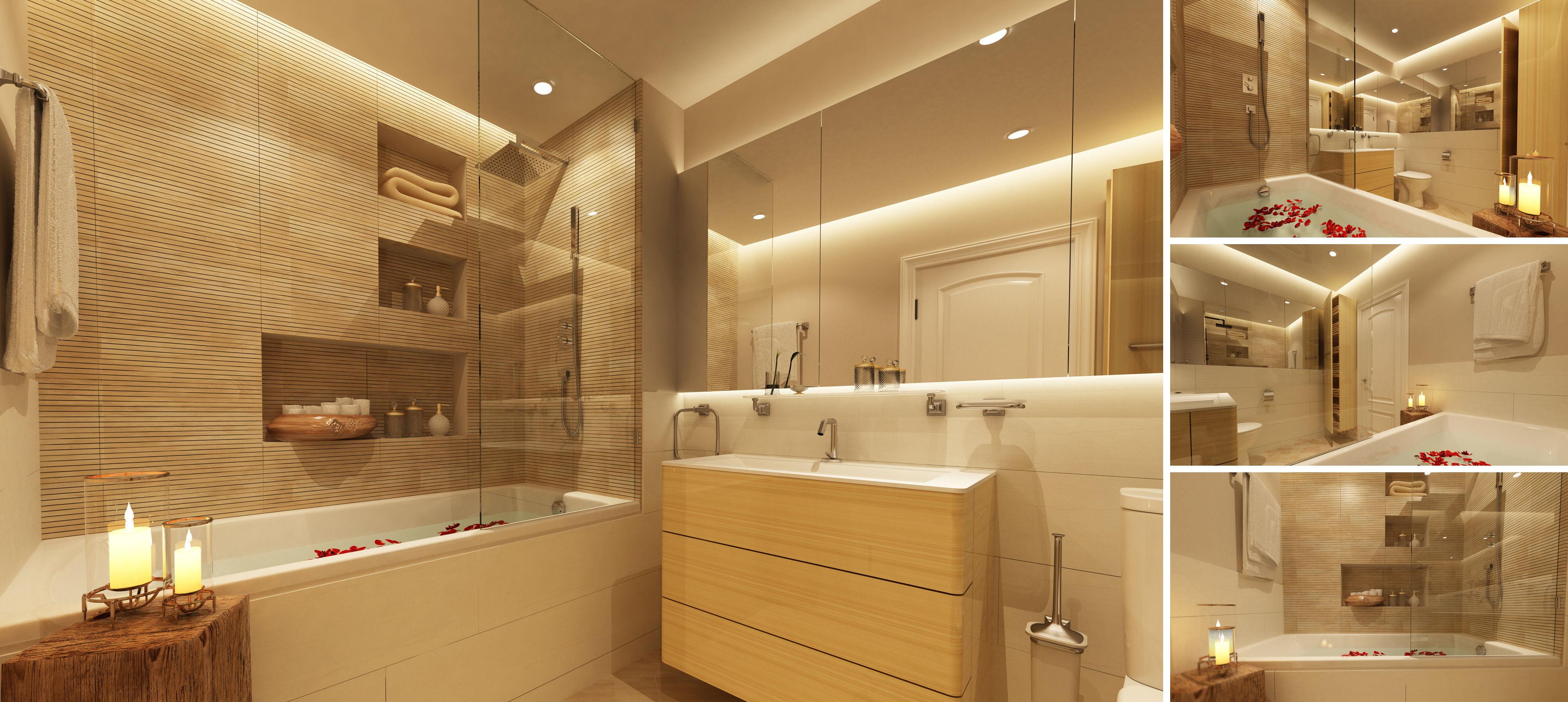 3D model Master bathroom | CGTrader on Model Toilet Design  id=73345
