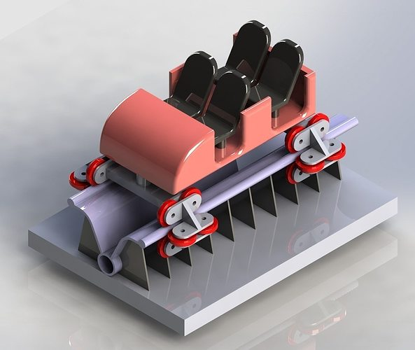 3D Model Roller Coastor Car CGTrader