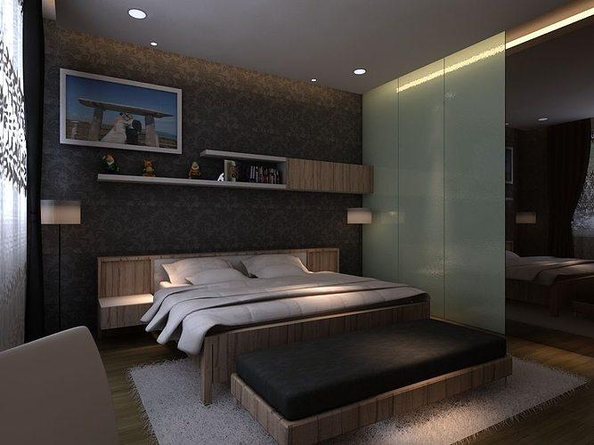 Master bedroom 3D | CGTrader on Model Bedroom Design  id=71009