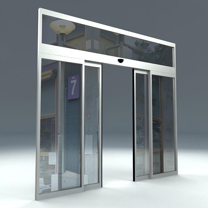 AUTOMATIC SLIDING DOOR 3D Model CGTrader