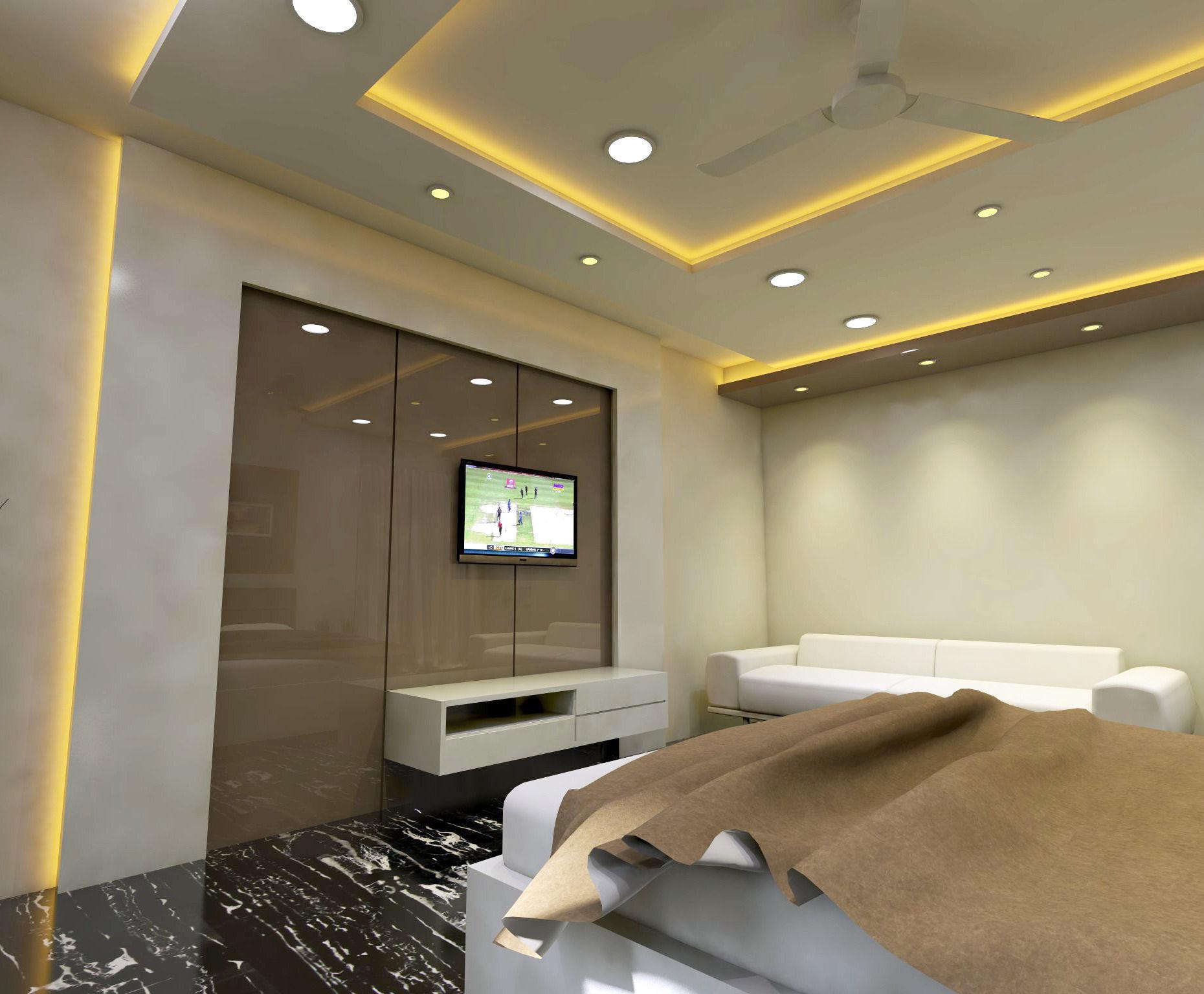 Modern Bedroom Interior Vray Rendered 3D Model SKP ... on Model Bedroom Interior Design  id=73688