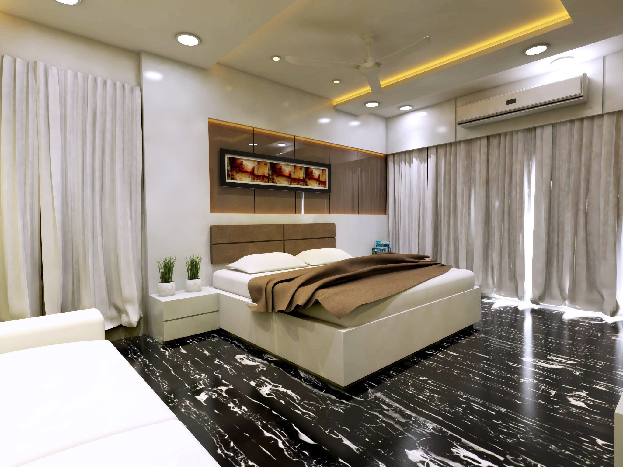Modern Bedroom Interior Vray Rendered 3D model | CGTrader on Model Bedroom Ideas  id=72182