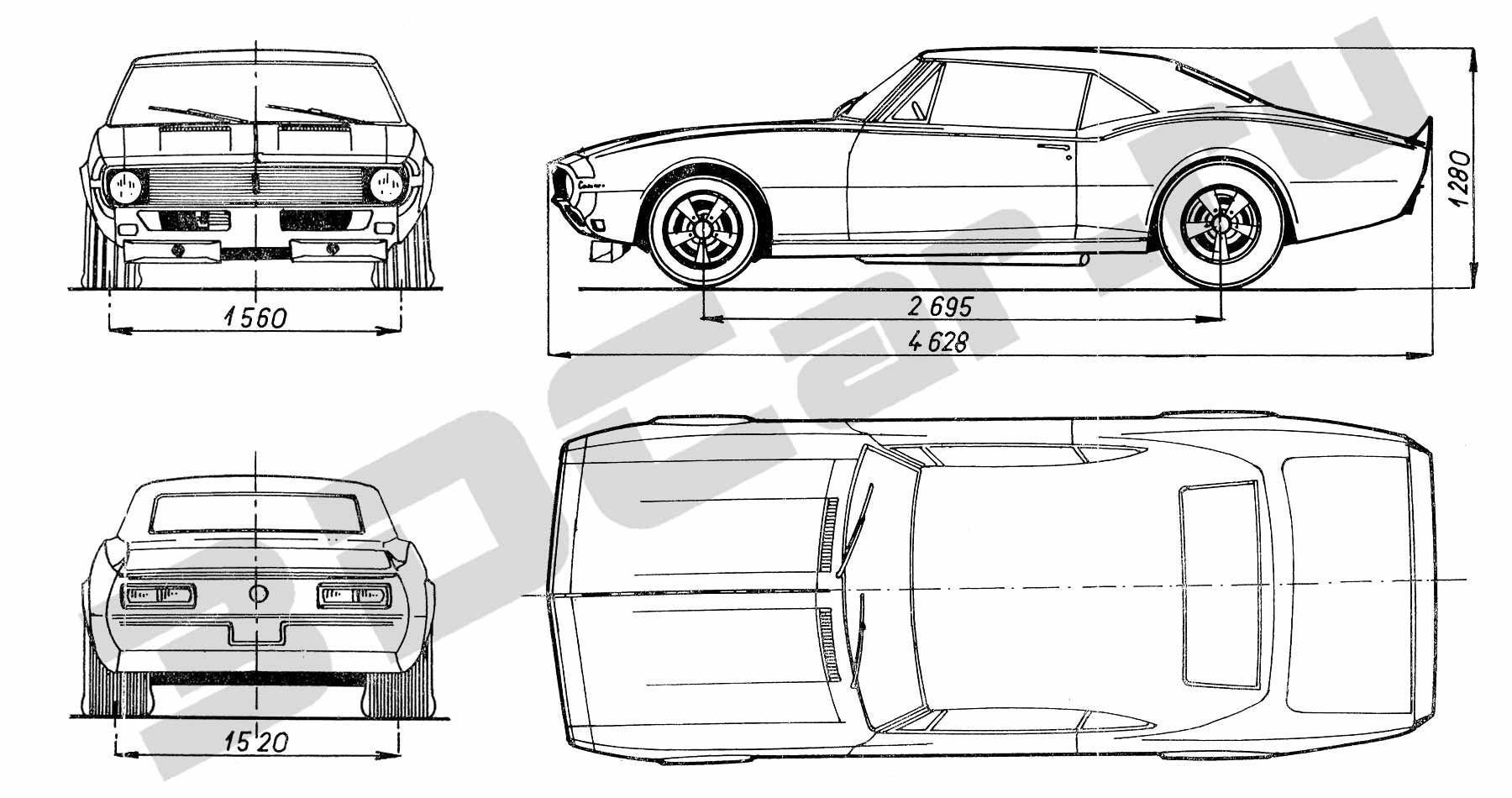 3d Model Chevrolet Camaro Vr Ar Low Poly Max 3ds Fbx