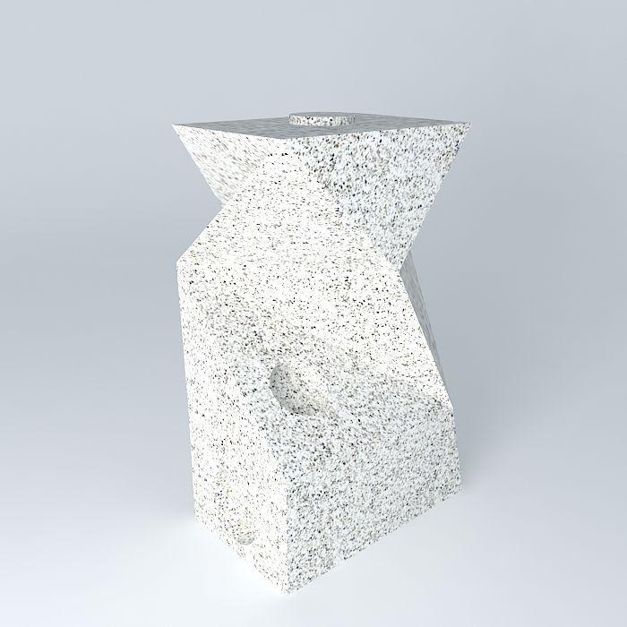 3D model granite sculpture escultura de granito | CGTrader on Granite Models  id=26917