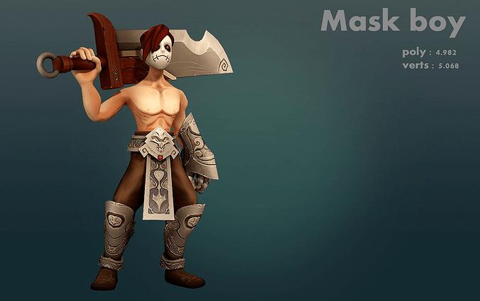 Mask Boy 3D Model CGTrader
