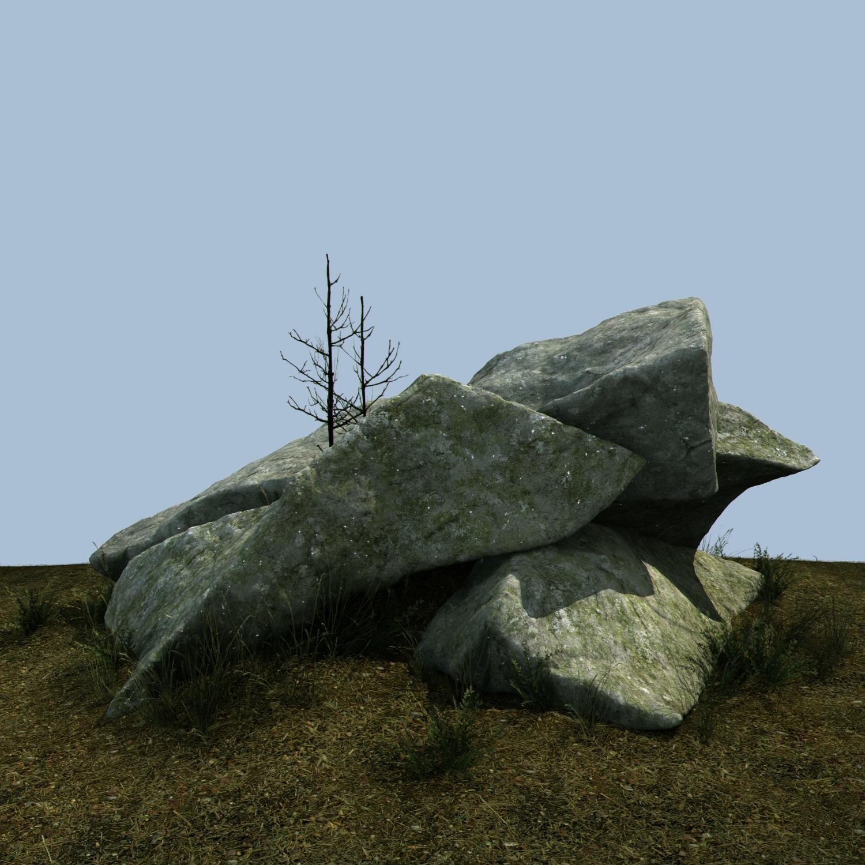 Granite outcrops miniscenes 3D model | CGTrader on Granite Models  id=80565