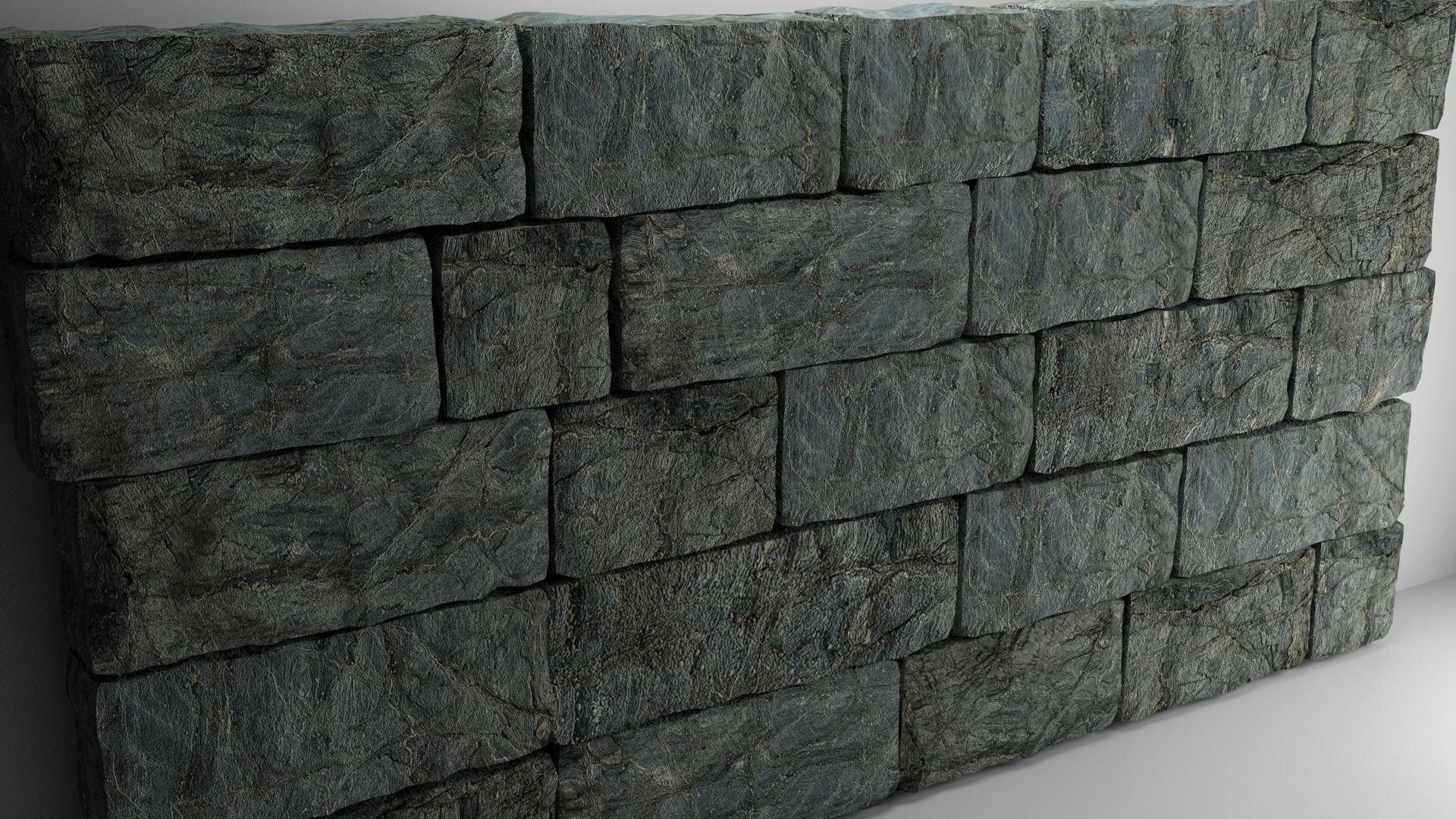 High Poly Natural Stone Wall 3D model | CGTrader on Granite Models  id=19934