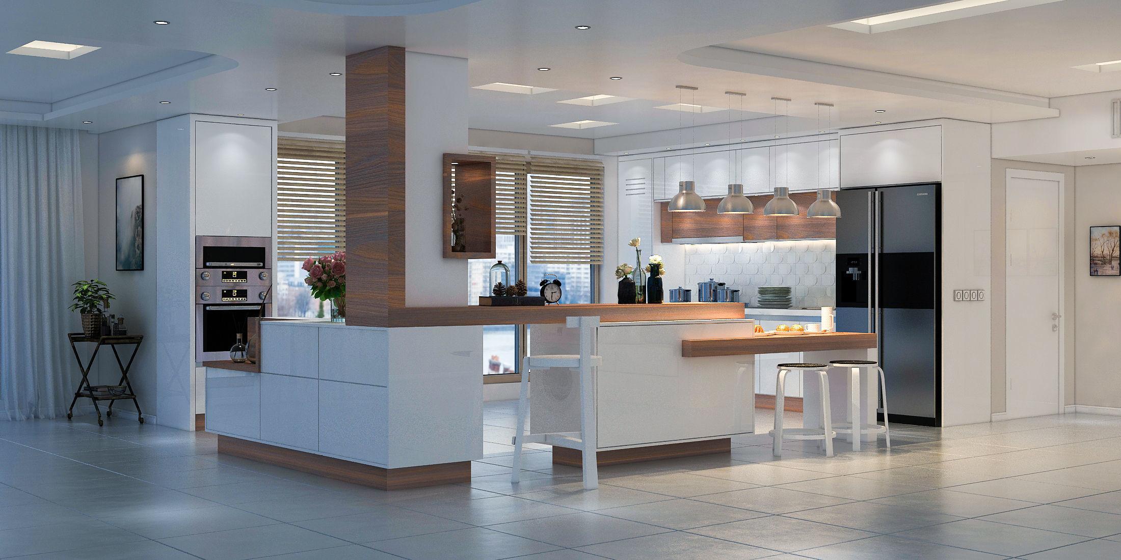 3D kitchen Modern Kitchen | CGTrader on Modern Model Kitchen  id=87130