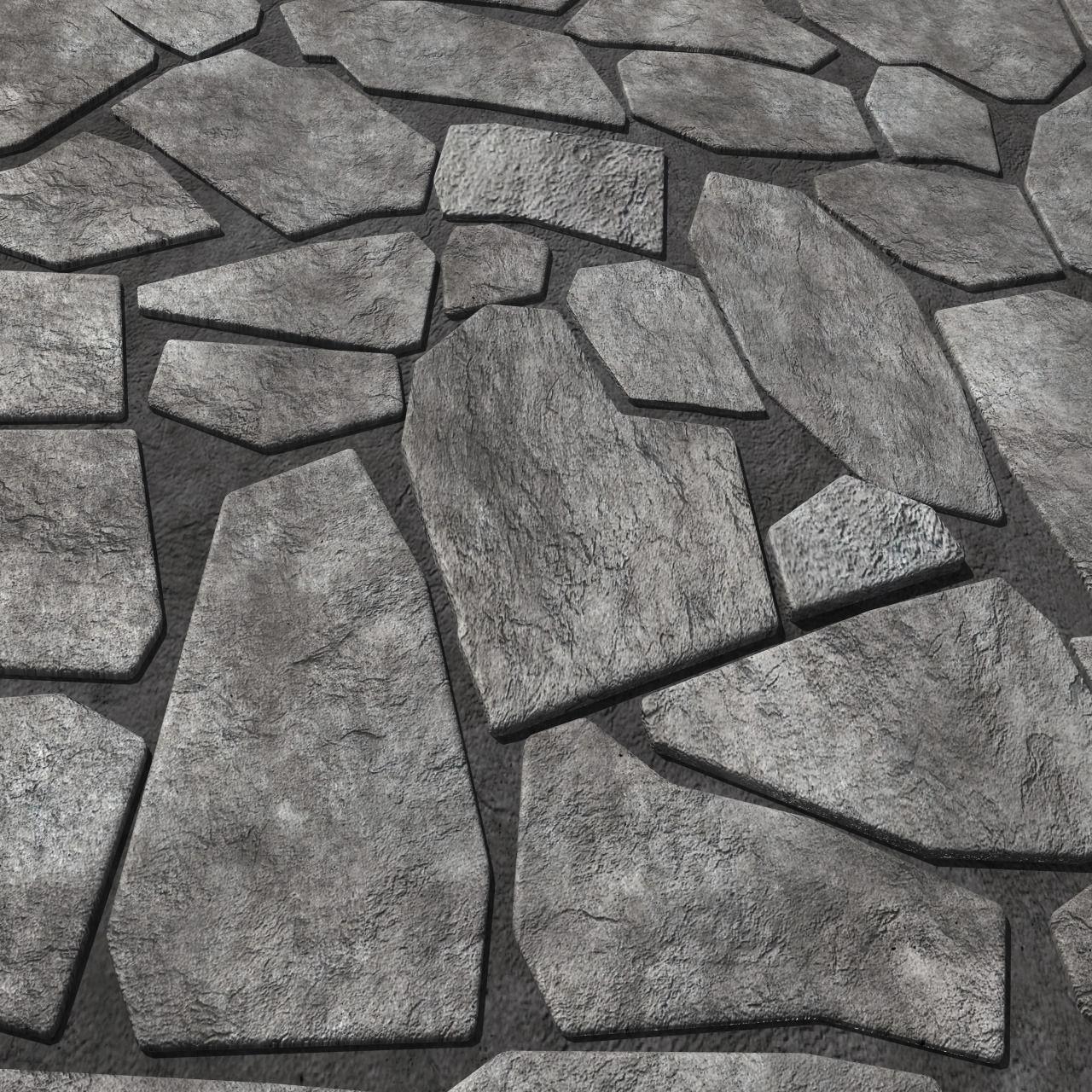 Rock Tiles 3D Model OBJ FBX MA MB   CGTrader.com on Tile Models  id=64913