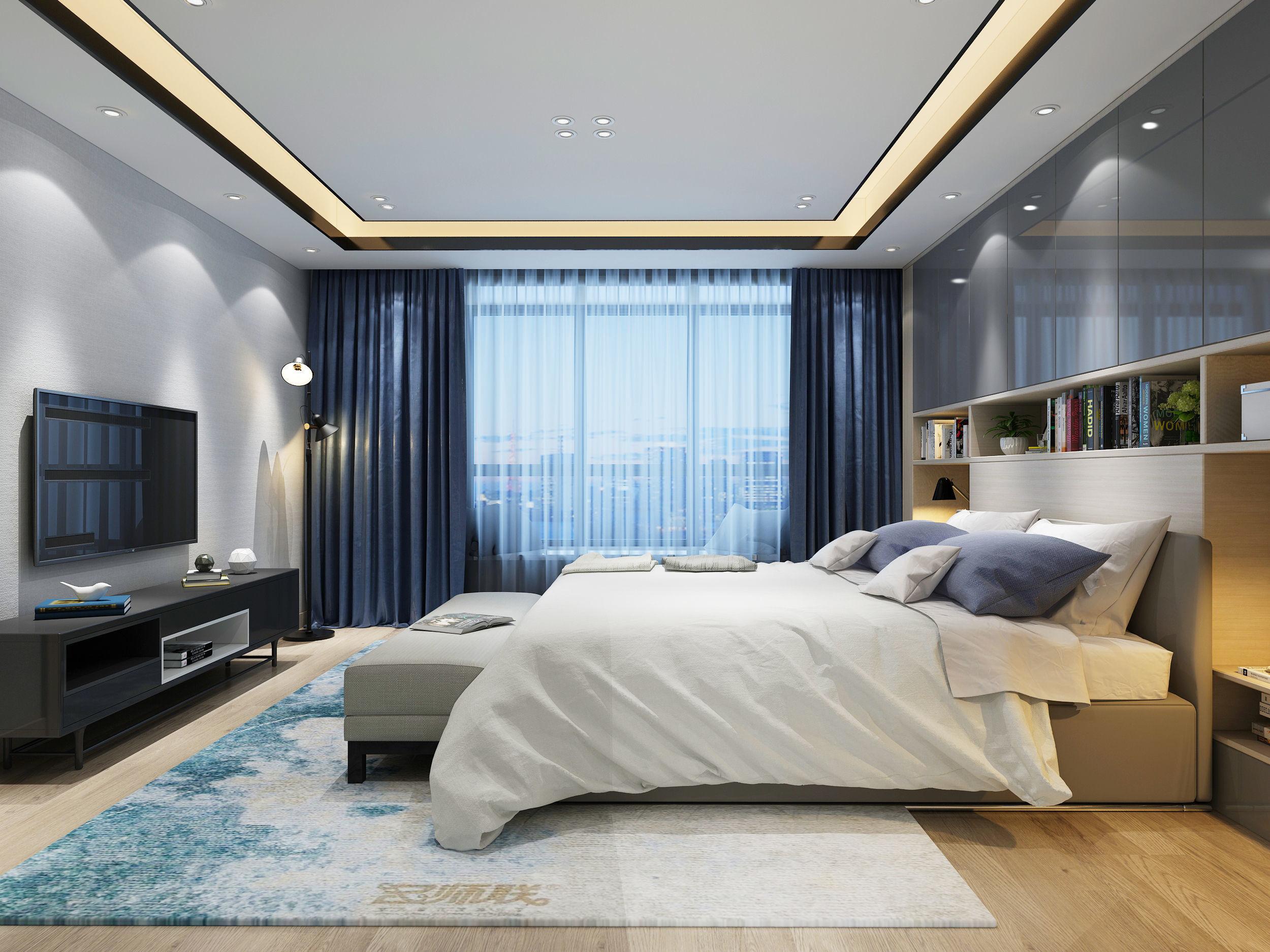 BEDROOM DESIGN 3D model bedroom | CGTrader on Model Bedroom Design  id=31997