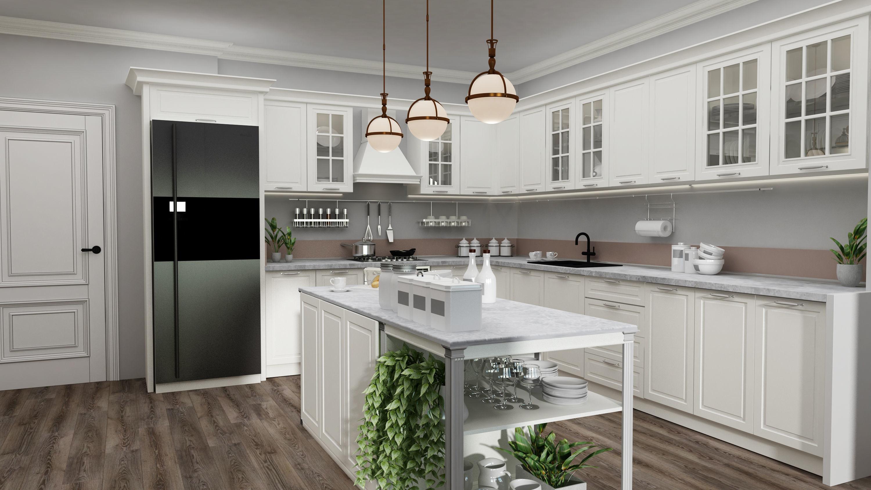 Rustic Kitchen Design 3d Model