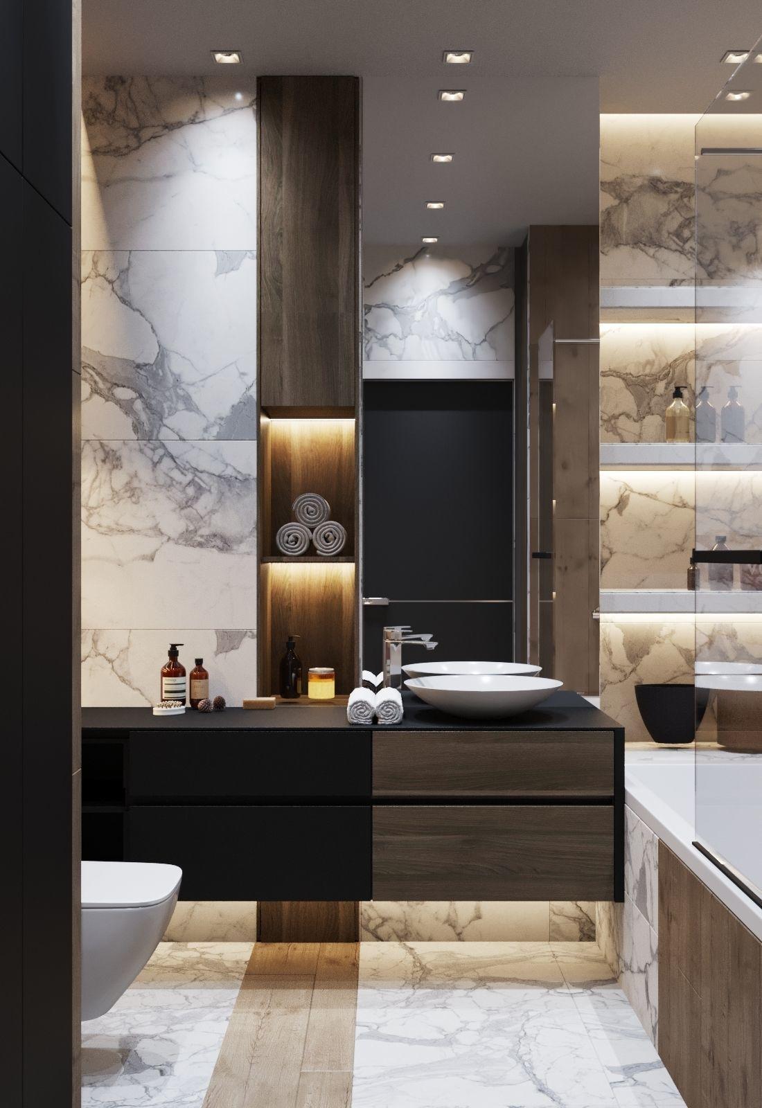 Bathroom Interior Scene and Corona Render 3D model on Bathroom Model  id=34361