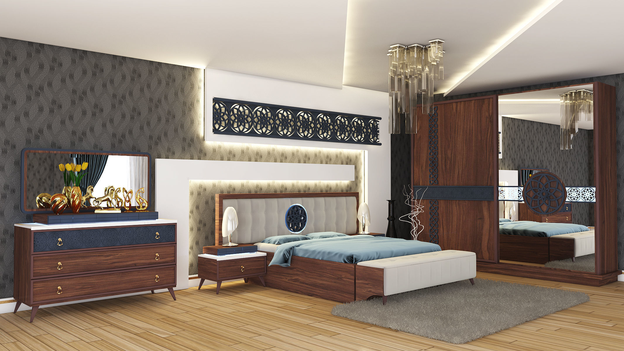 Antakya Bedroom Interior Design 3D model | CGTrader on Model Bedroom Ideas  id=80491