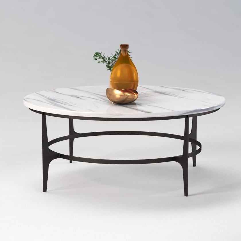 avondale round metal cocktail table 3d model