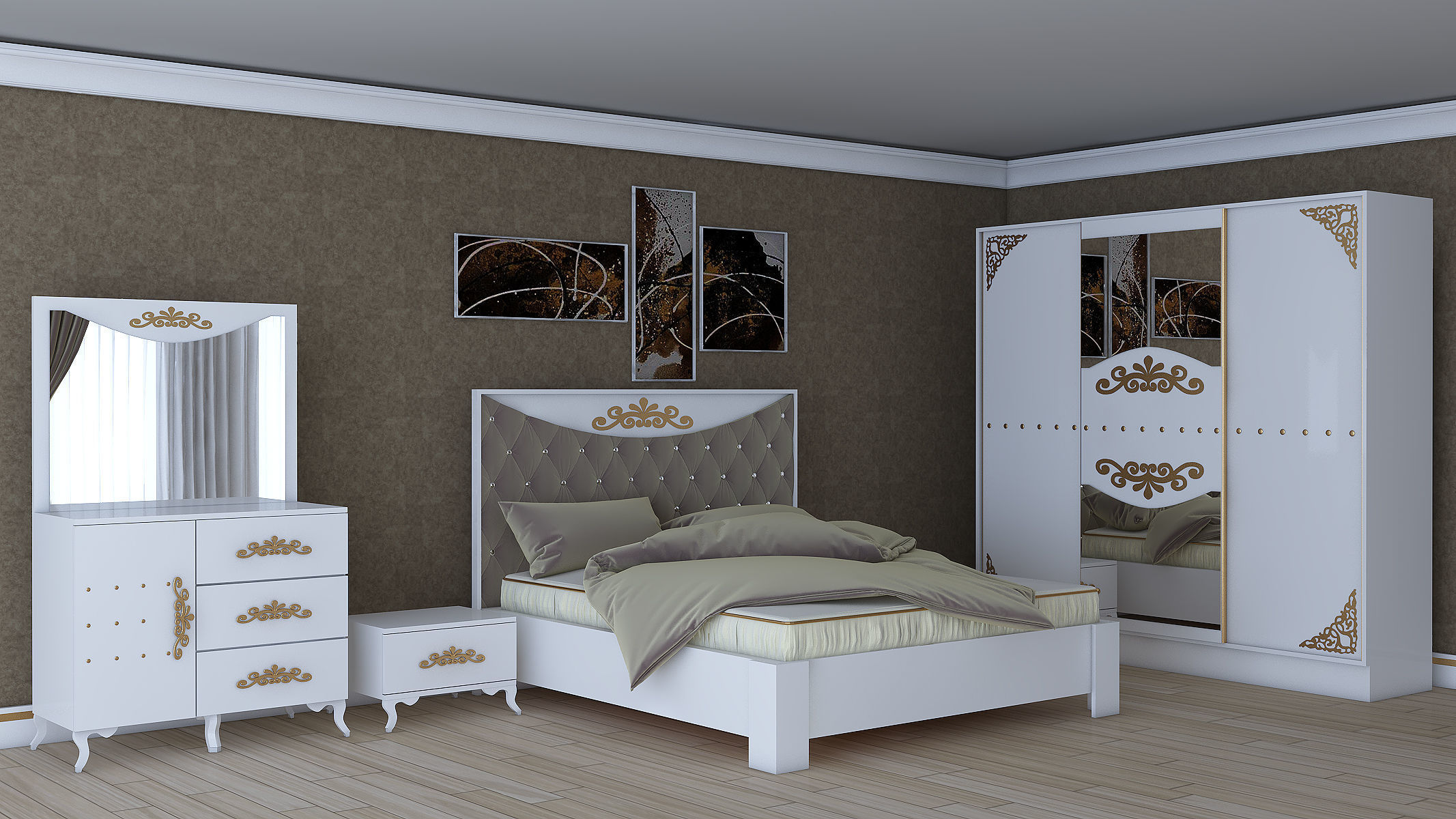 Bedroom Furniture Design D 3D model low-poly | CGTrader on Model Bedroom Ideas  id=86588