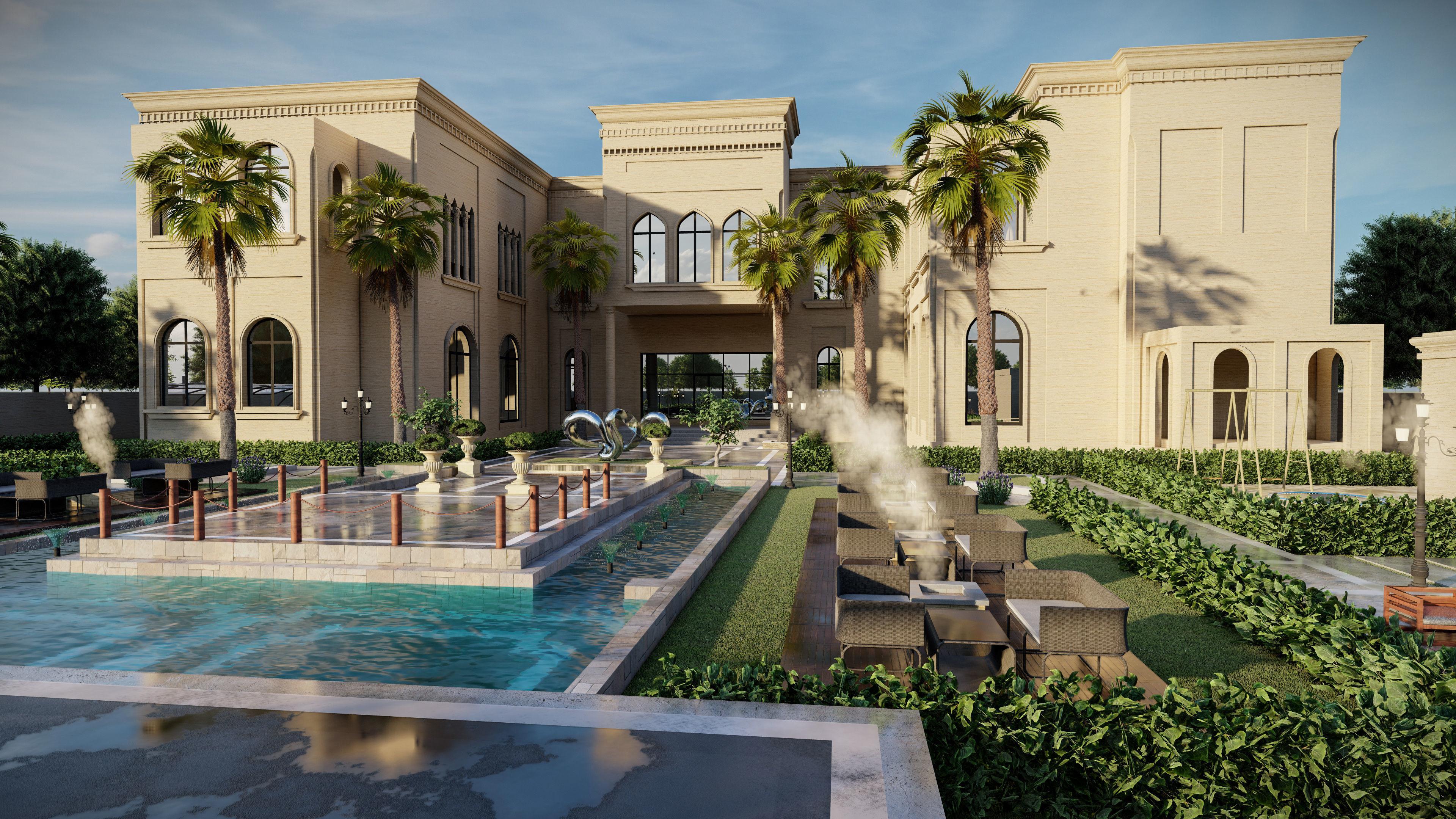 Big luxury backyard design sketchup model with lumion 1 on Sketchup Backyard id=63437