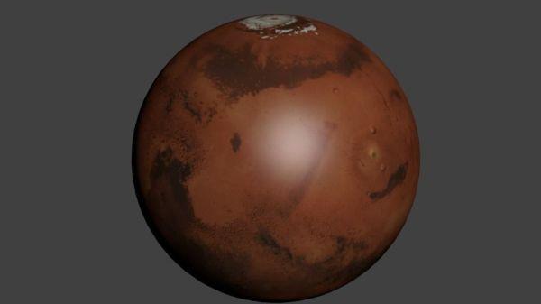 Planet Mars 8k 3D Model OBJ BLEND - CGTrader.com