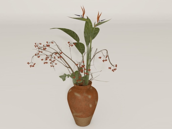 3d Flower Vase Download Wallpaper Full Wallpapers