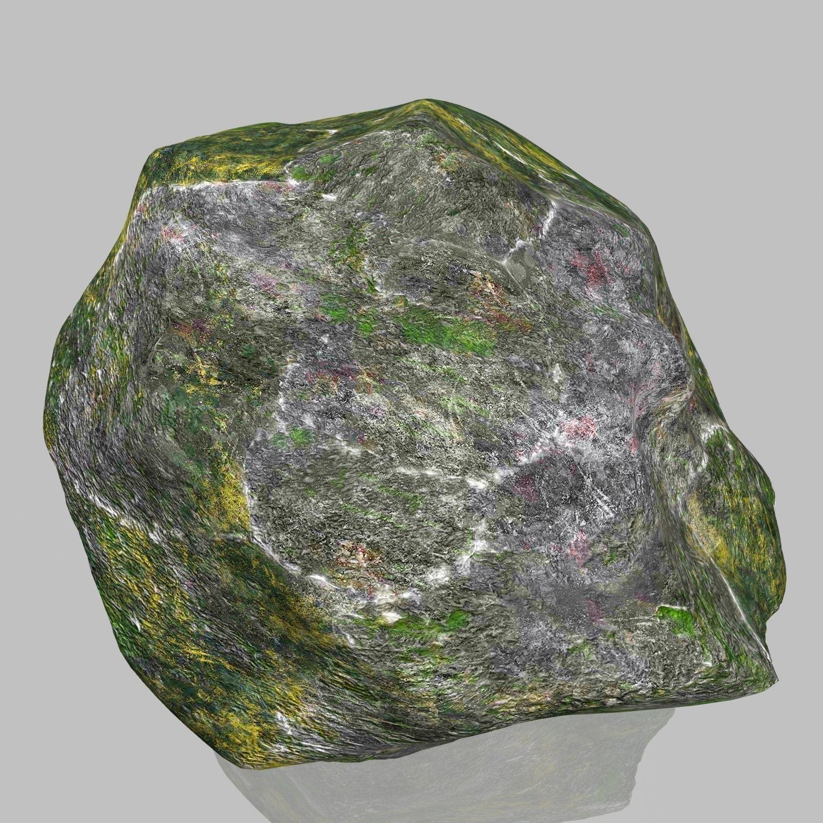 3D model Rock Stone 2 VR / AR / low-poly MAX OBJ 3DS FBX ... on Granite Models  id=28868