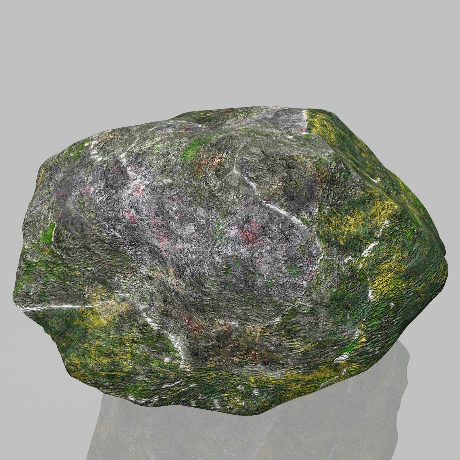 3D model Rock Stone 2 VR / AR / low-poly MAX OBJ 3DS FBX ... on Granite Models  id=23811