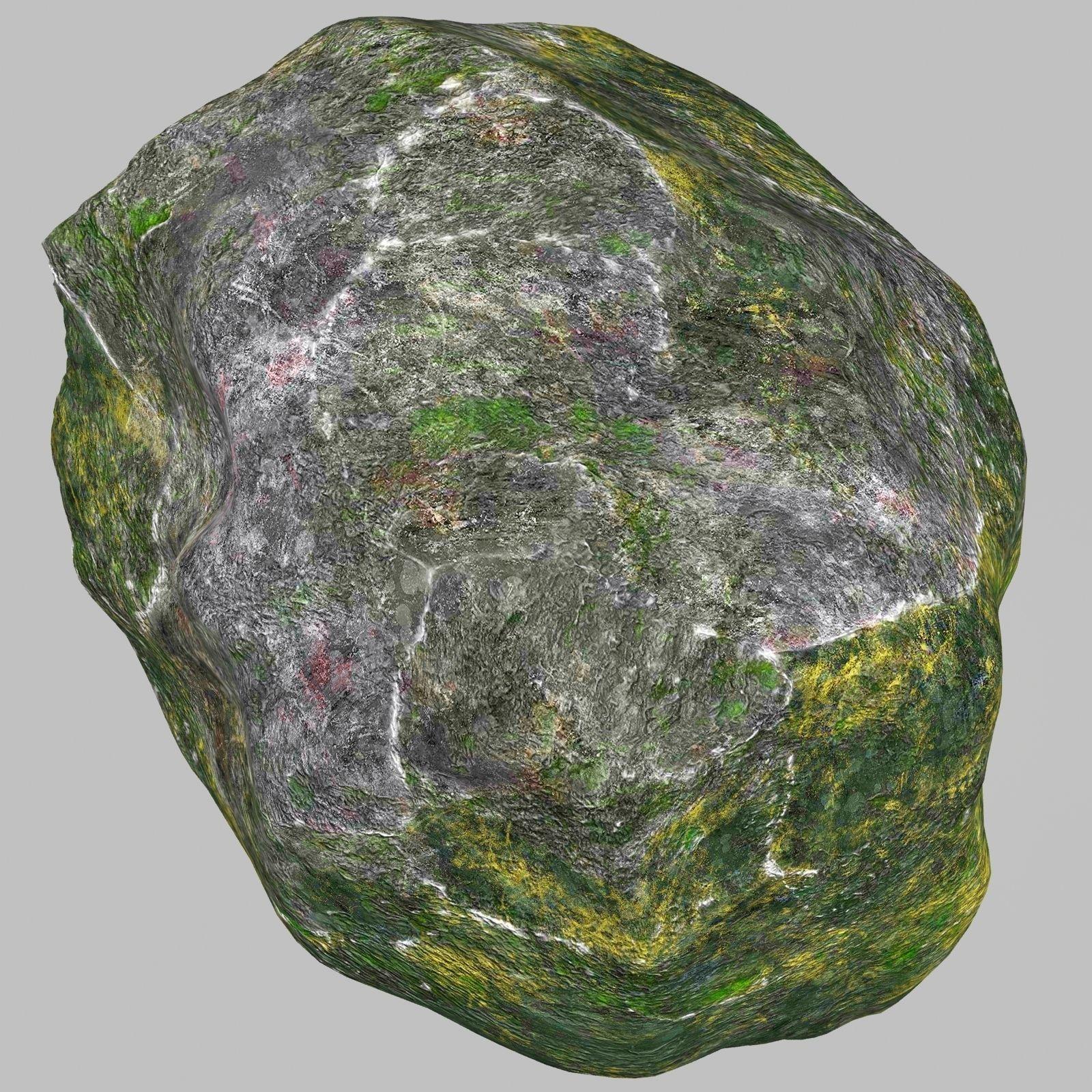 3D model Rock Stone 2 VR / AR / low-poly MAX OBJ 3DS FBX ... on Granite Models  id=37139