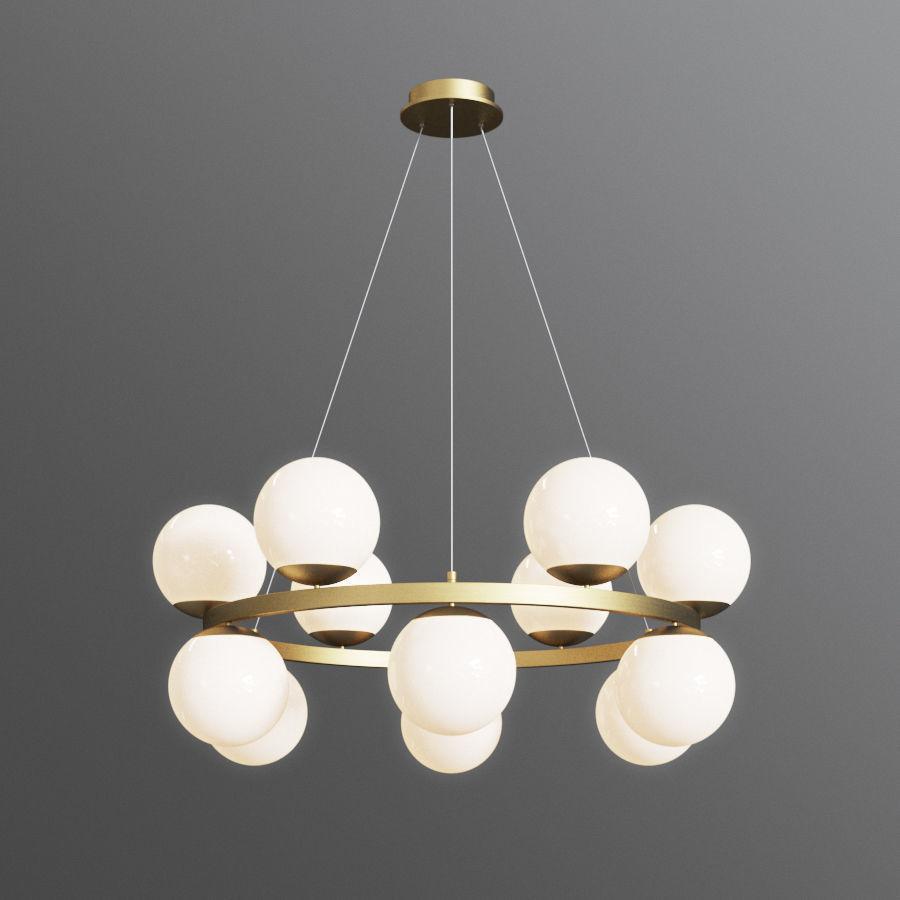bubbles brass ring pendant light cb2 3d model