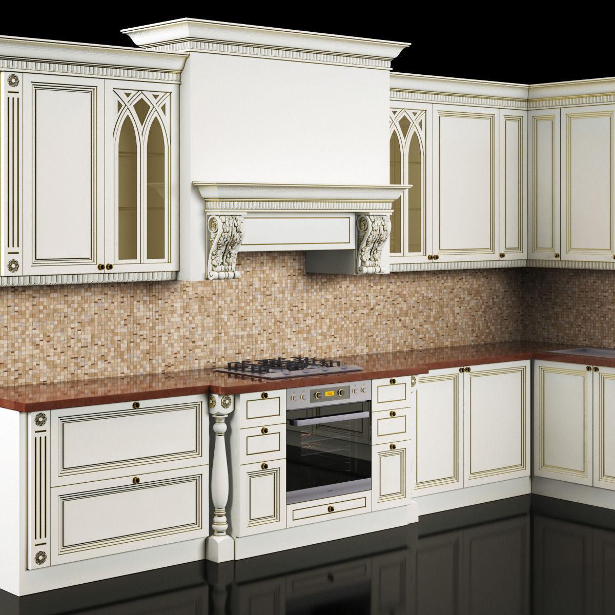 classic kitchen 3D Model MAX | CGTrader.com on Model Kitchen  id=78219