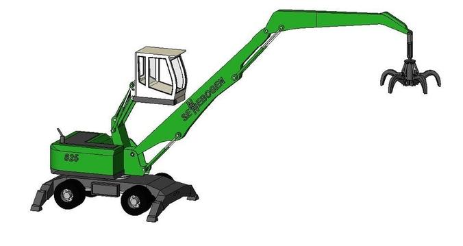 3D Model Material Handler Sennebogen 825 CGTrader