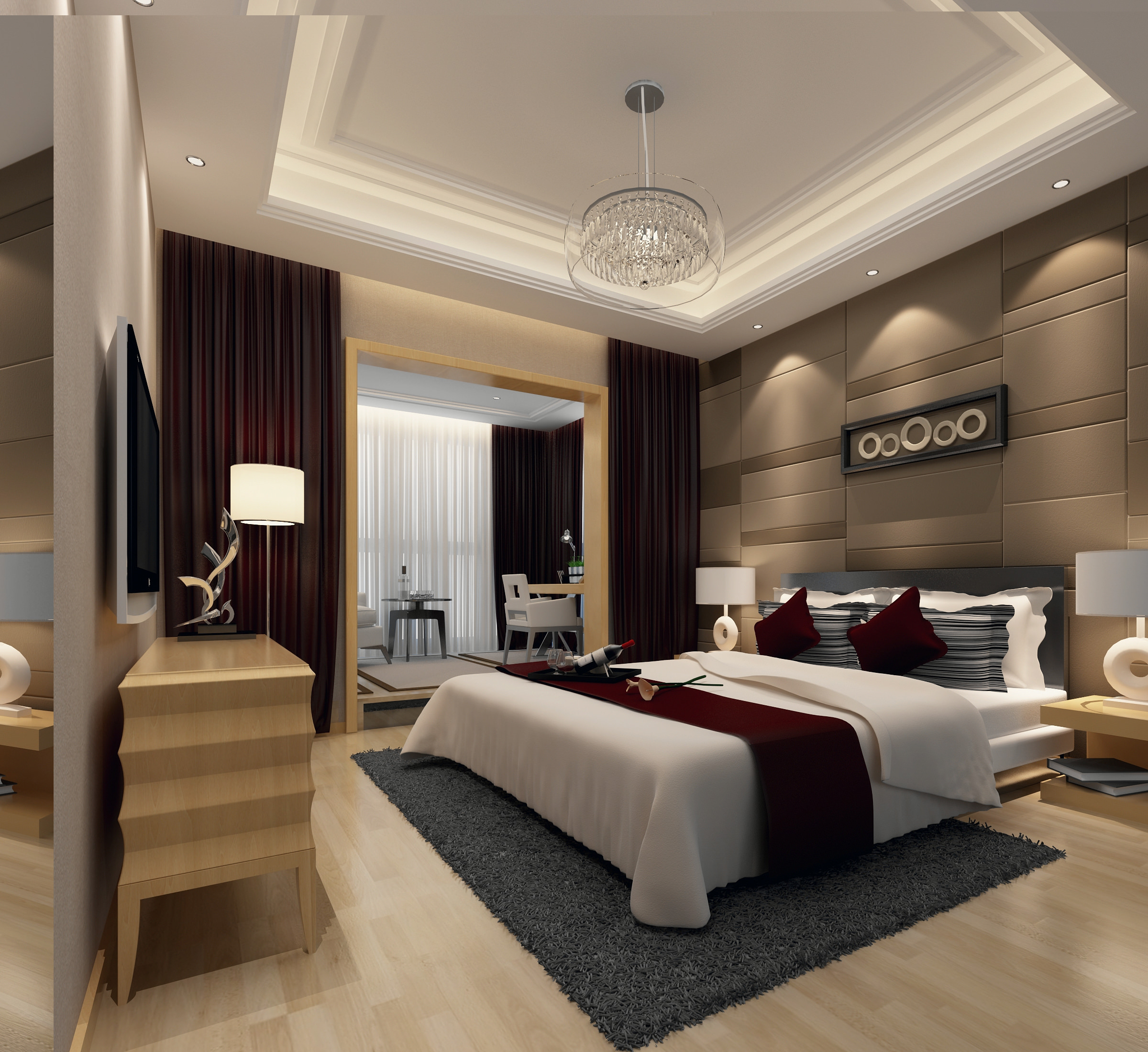 Modern Bedroom 3D Model MAX | CGTrader.com on Model Bedroom Ideas  id=77662