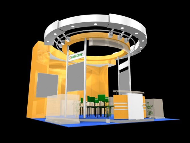 Business Exhibit Booth 3D Model CGTrader