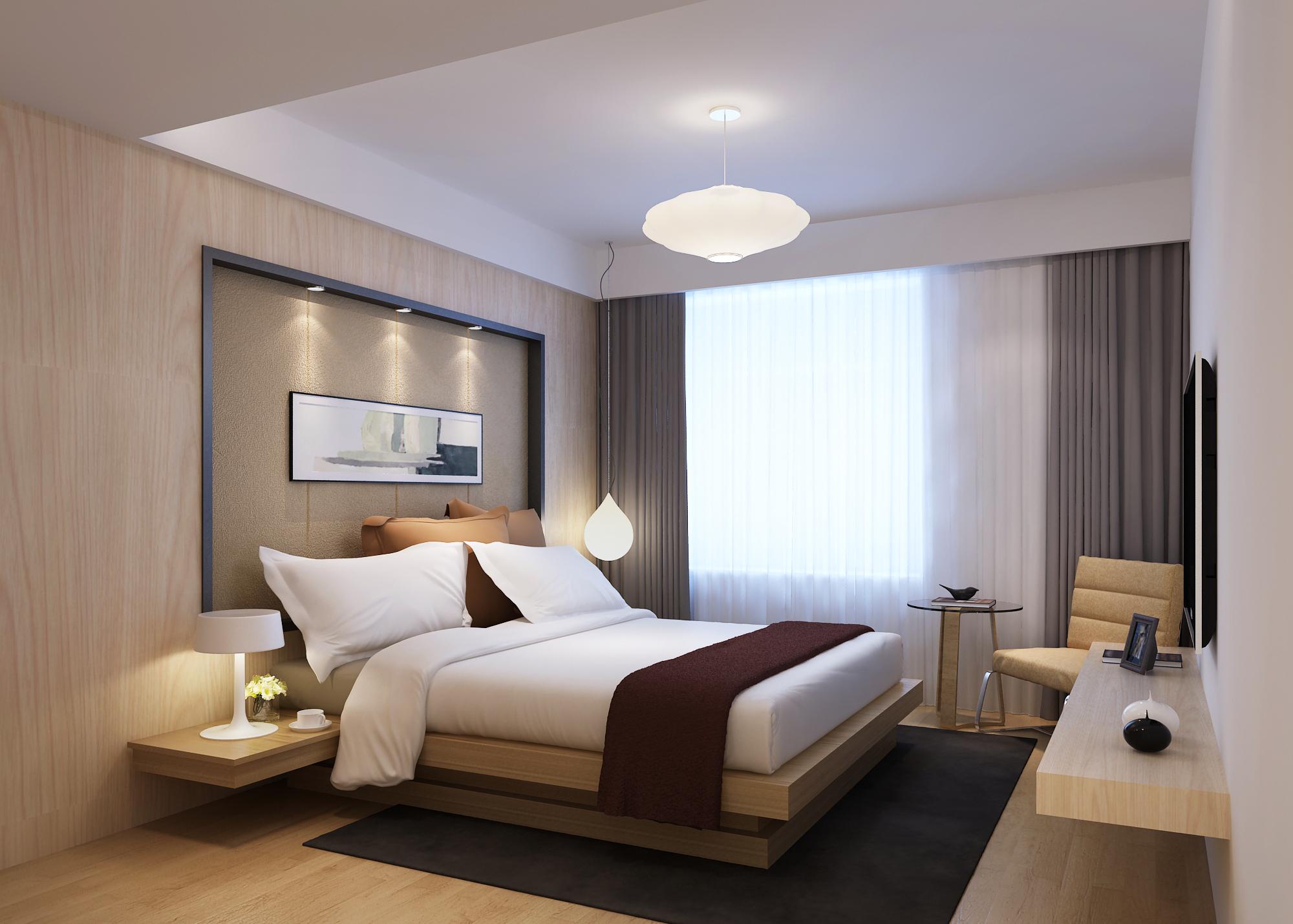Modern Bedroom 3D Model MAX | CGTrader.com on Model Bedroom Design  id=50442