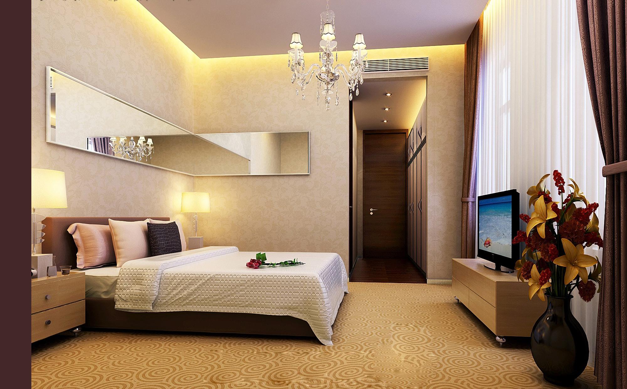 Modern Bedroom 3D Model MAX | CGTrader.com on Model Bedroom Interior Design  id=97952