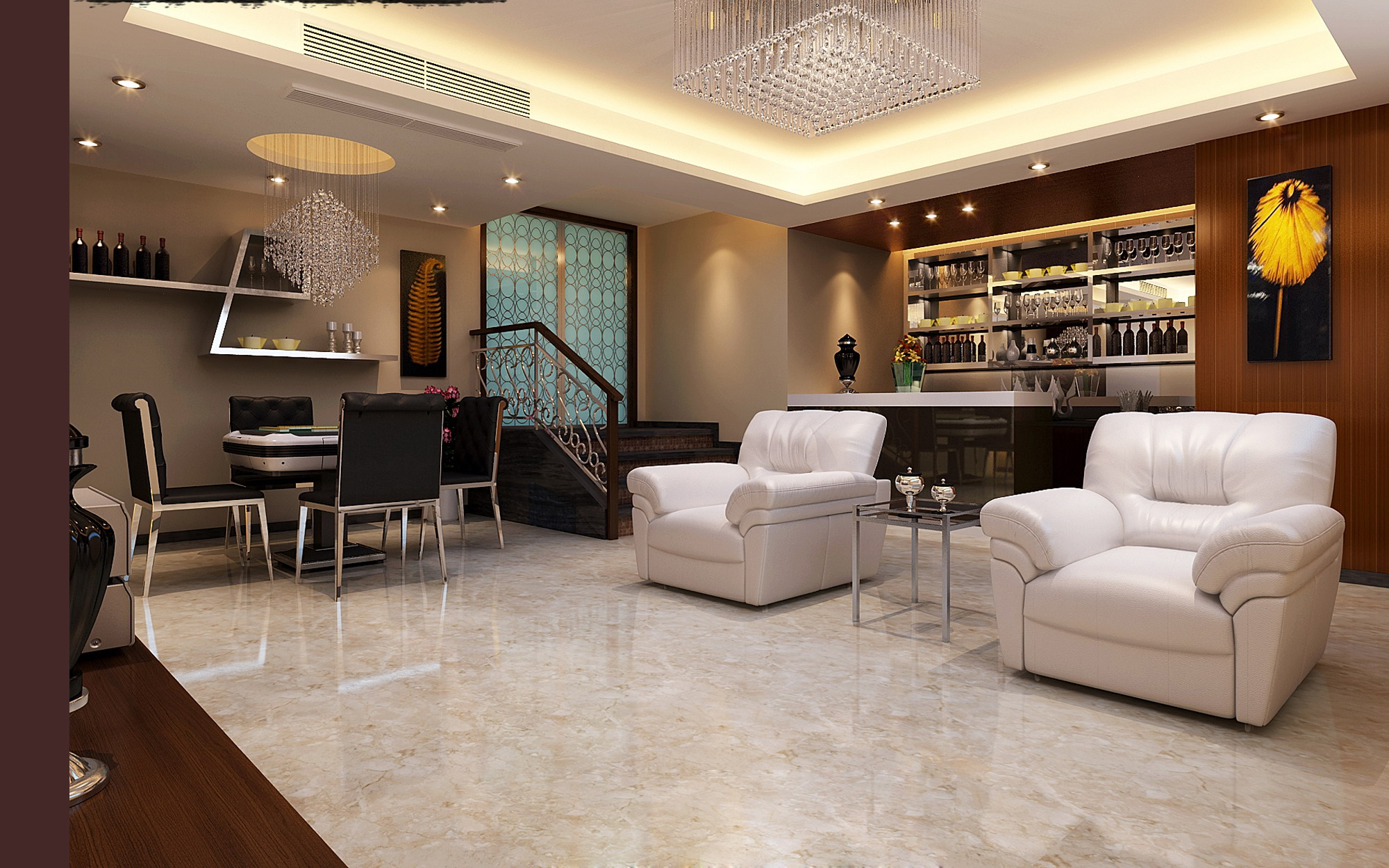 Best Living Room 3d Design
