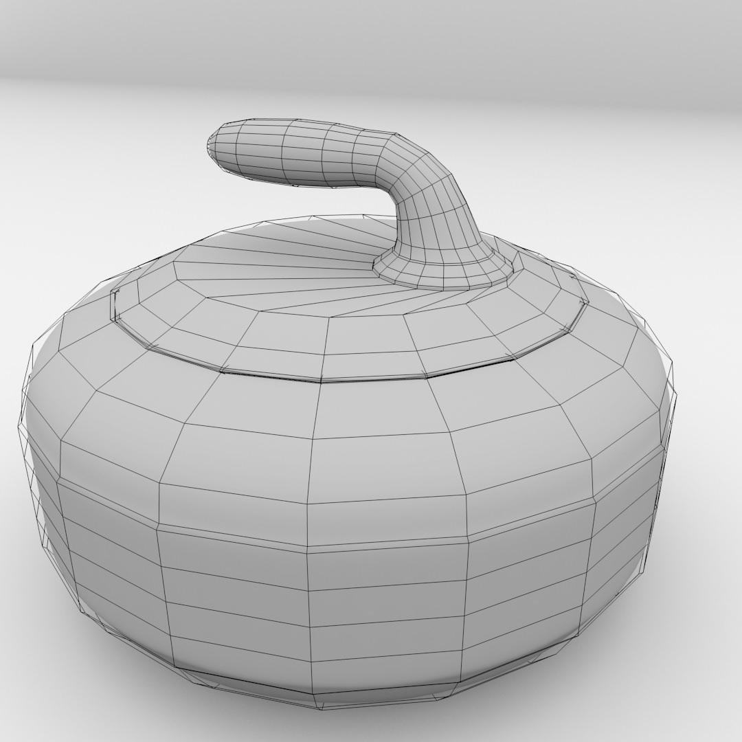 Curling Stone 3D Model 3DS FBX BLEND DAE | CGTrader.com on Granite Models  id=42842