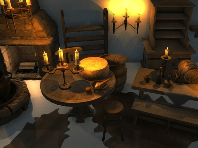Medieval Interior Asset Pack Free VR AR Low Poly 3D