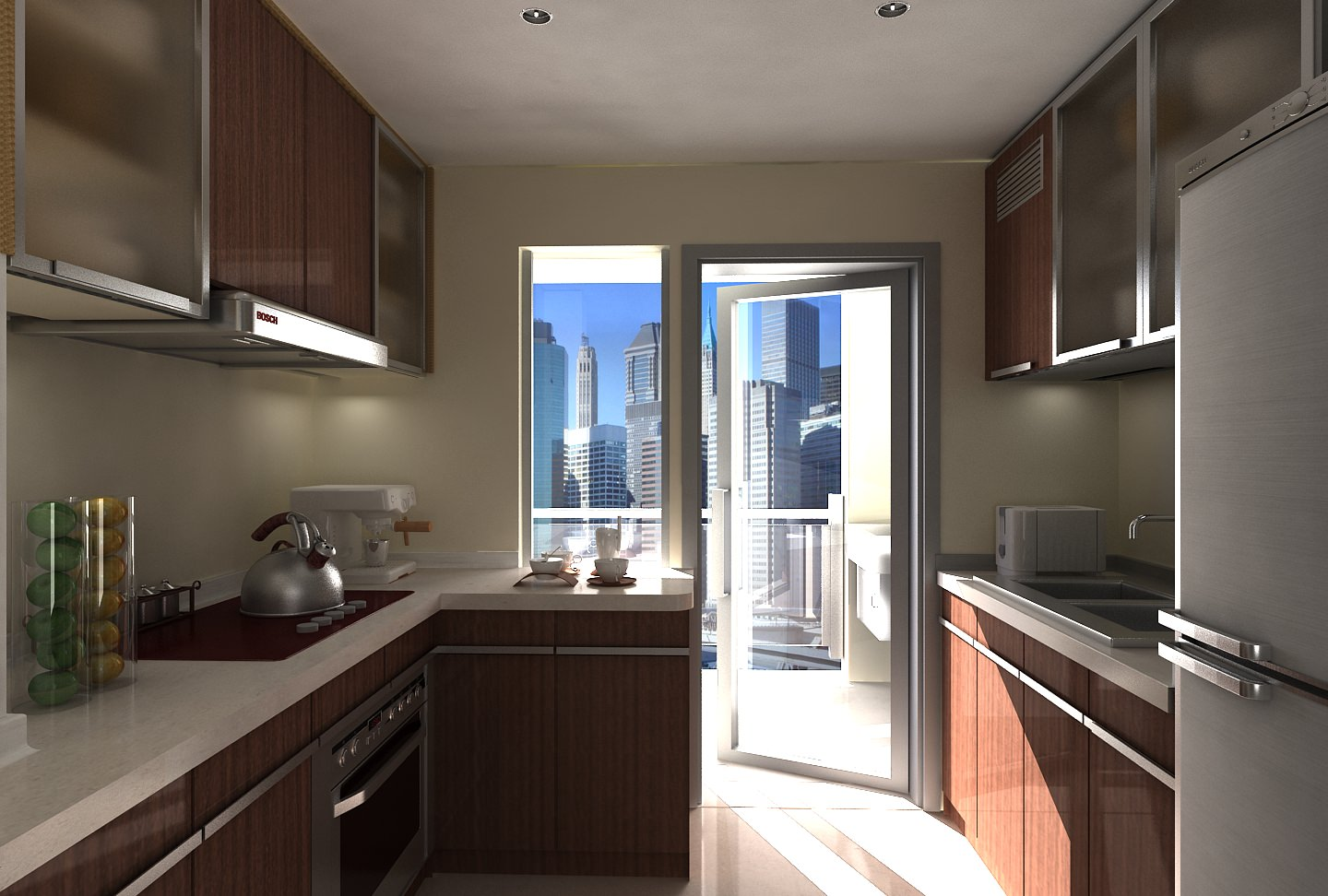 3D model modular kitchen | CGTrader on Model Kitchen Images  id=50729