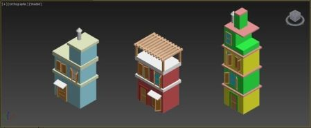3D model Buildings set for simple games   CGTrader buildings set for simple games 3d model max 1
