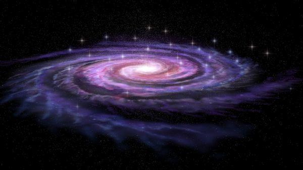 nebula Spiral Galaxy in deep space 3D model   CGTrader