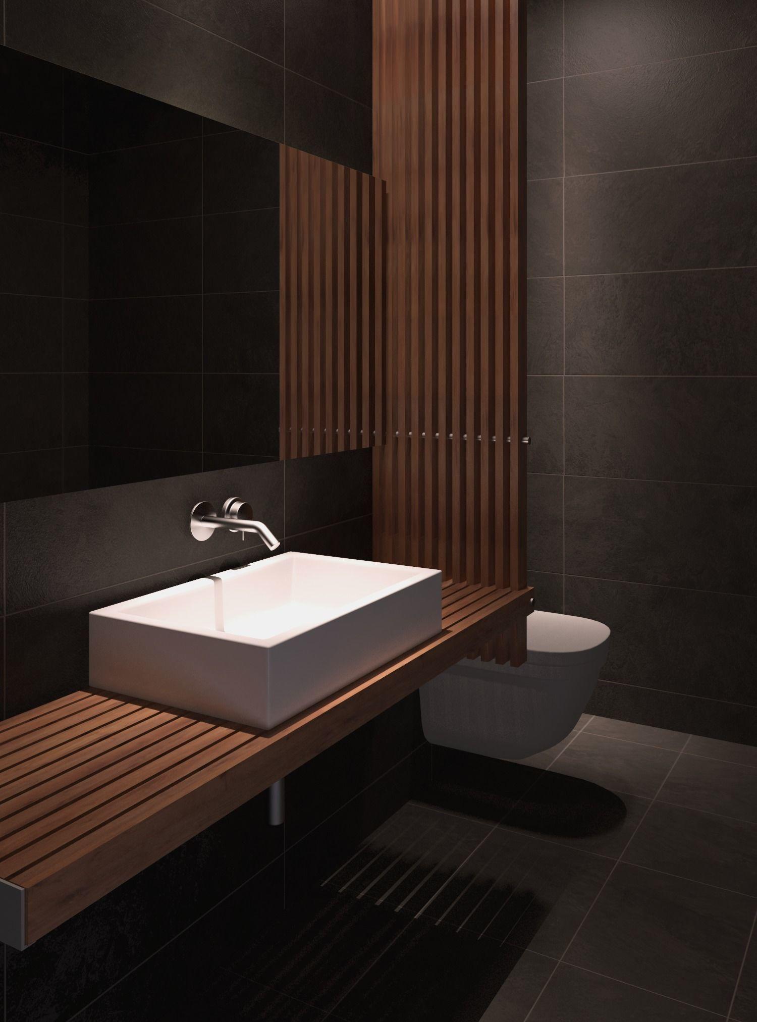 Modern Bathroom 3D Model MAX FBX   CGTrader.com on Model Bathroom  id=60314