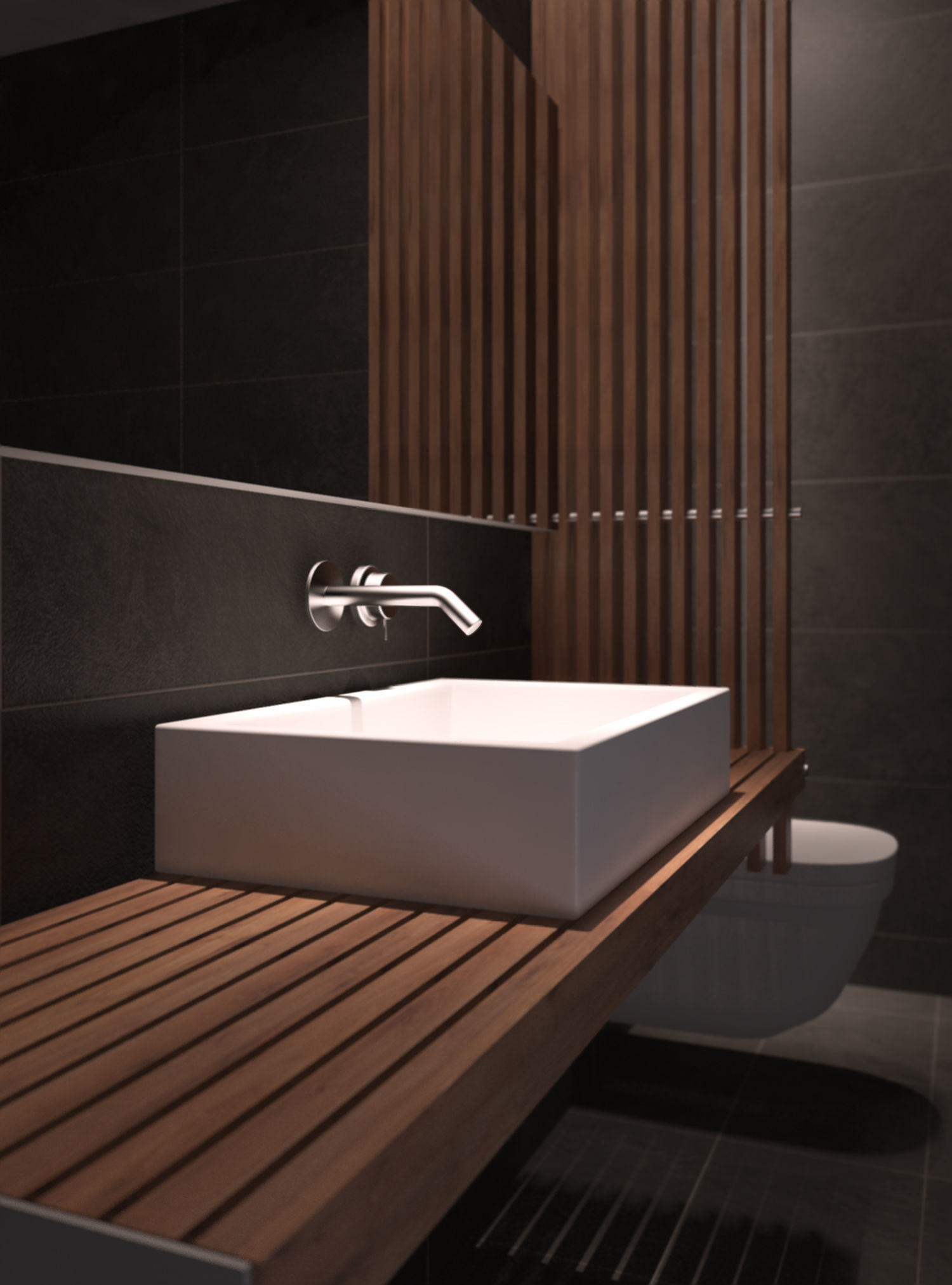 Modern Bathroom 3D Model MAX FBX   CGTrader.com on Model Bathroom  id=54086