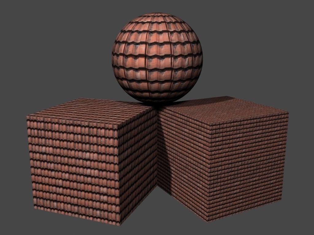 Roof Tiles Pack 3 3D Model   CGTrader.com on Tile Models  id=75093