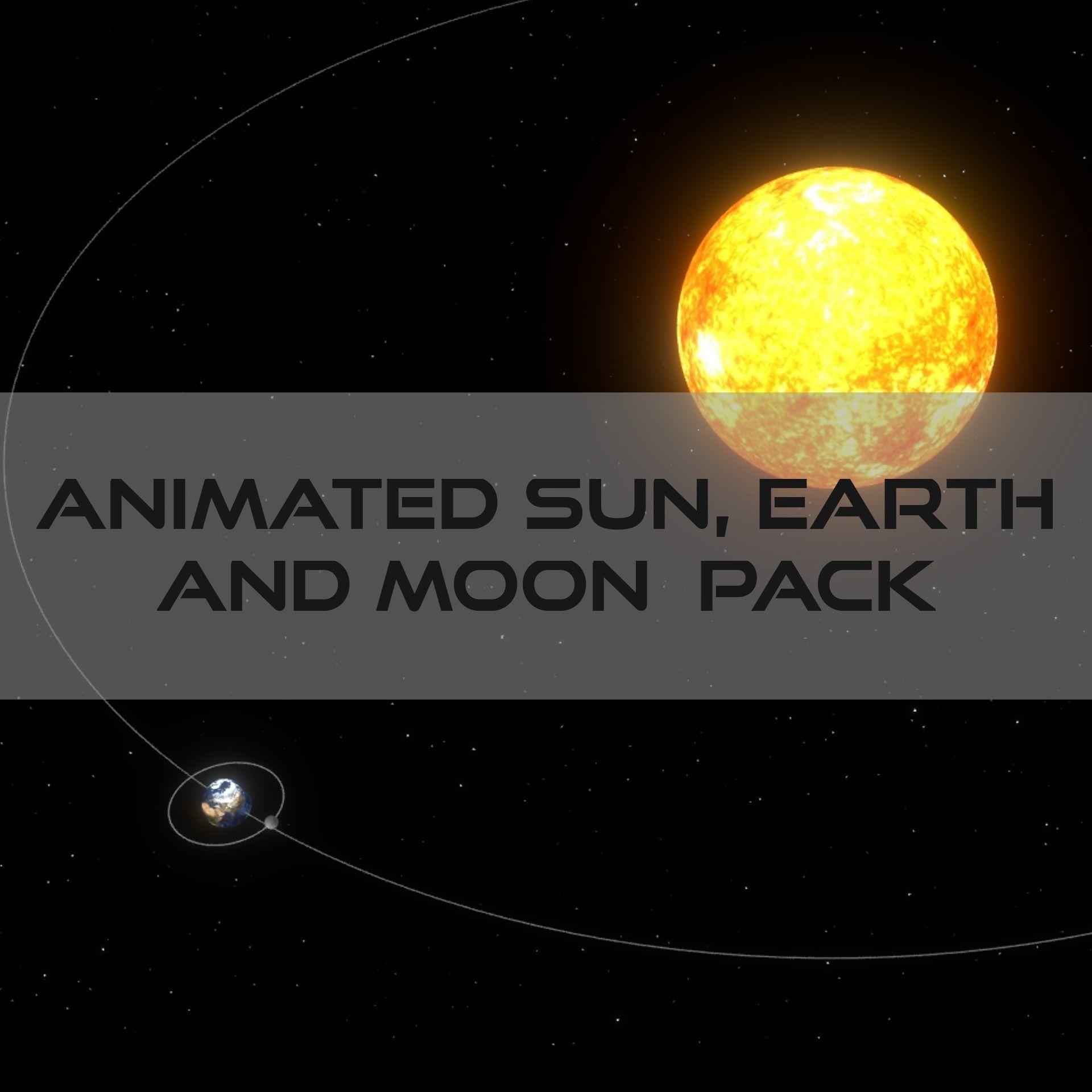 3d Asset Animated Sun Earth Moon System